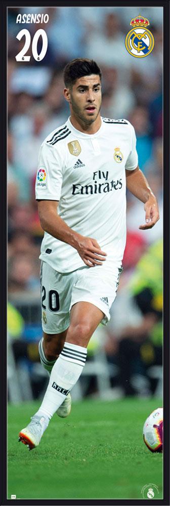 Details Zu Fussball Real Madrid Asensio 18 19 Tur Poster Xxl Door Ca 53x158 Cm