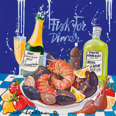 El Van Leersum - Kunstdruck / Art Poster - Fish for dinner