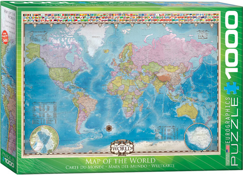 1000 Teile Puzzle - Puzzle - Weltkarte - Map of the World