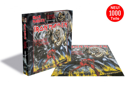 1000 Teile LP Cover Puzzle - Puzzle - Iron Maiden The Number Of The Beast