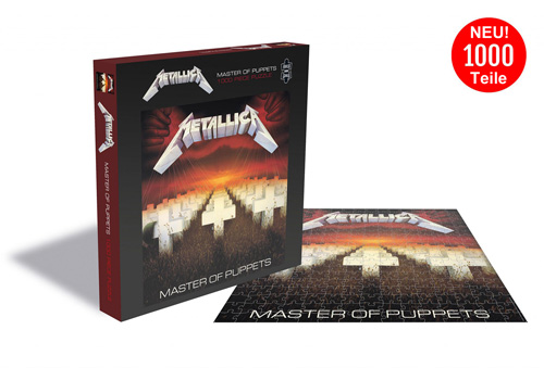 1000 Teile LP Cover Puzzle - Puzzle - Metallica Master Of Puppets