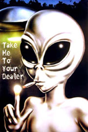 Poster - Aliens Take Me To Your Dealer II
