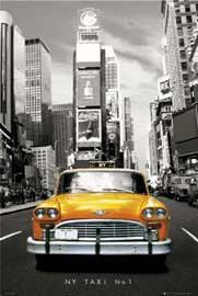 Poster - New York Yellow Cab No.1 colourlight
