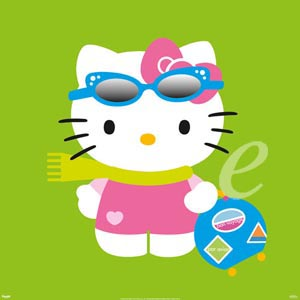 Poster - Sanrio Hello Kitty Green Version 2