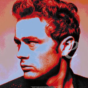 Poster - Roy Schatt James Dean Red