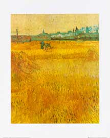 Van Gogh, Vincent Oat field with a view of Arles