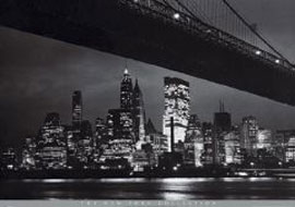 Poster - New York Brooklyn Bridge Version 3
