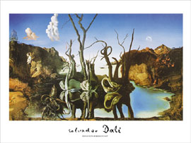 Poster - Dali, Salvador Reflections of Elephants