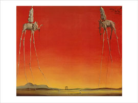 Dali Salvador Natura morte vivente Grösse 80x60 Kunstdruck Artprint