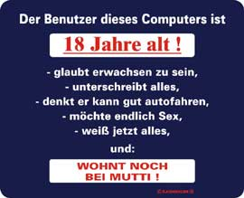 Poster - Benutzer ist 18 Mousepad