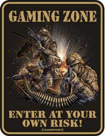 Poster - Gaming Zone Enter at own risk