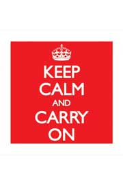 Poster - Keep Calm and Carry On - Red