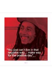 Poster - Marley, Bob Zitat - Positive Day