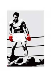Poster - Ali, Muhammad Rote Boxhandschuhe