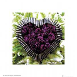 Poster - Madalenes Hearts Purple