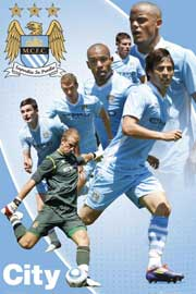 Poster - Fussball Manchester City Players 11/12