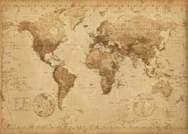 Poster - Landkarten World Map