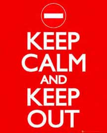 Poster - Keep Calm And Keep Out