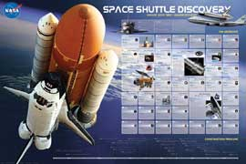 Poster - Educational - Bildung Shuttle Discovery Missions Raumschiff
