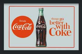 Poster - Coca Cola Better with Coke