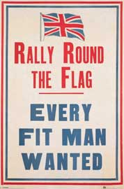 Poster - Vintage Rally Round The Flag