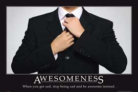 Poster - Motivational Awesomeness Suit