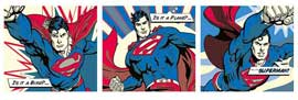Poster - DC Comic Superman - Triptychon