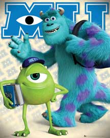 Poster - Monsters University Mike and Sulley