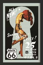 Poster - Route 66 Pin Up