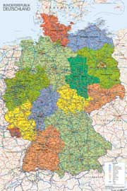 Landkarten  Germany Map