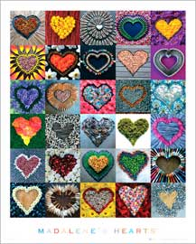 Poster - Madalenes Hearts Collage