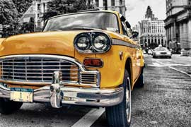 Poster - New York Yellow Cab Colourlight