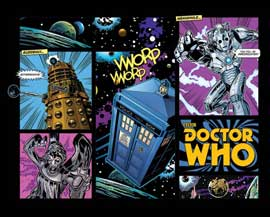Poster - Doctor Who Comic Layout