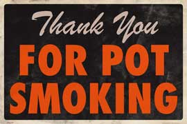 Poster - Dope Pot Smoking