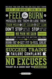Poster - Motivational Gym - No Excuses