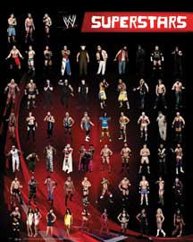 Poster - Wrestling WWE - Superstars