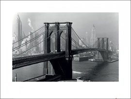 Poster - Time Life  Brooklyn Bridge, New York 1946