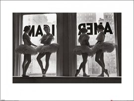 Poster - Time Life  Ballet Dancers in Window