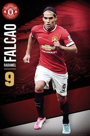 Poster - Fußball Manchester United - Falcao 14/15
