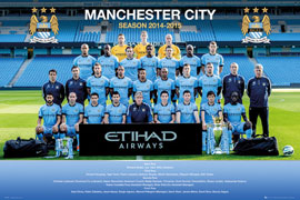 Poster - Fußball Manchester City - Team Photo 14/15