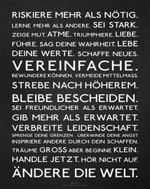 Poster - Motivational Riskiere mehr Mousepad