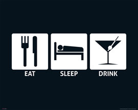 Poster - Eat, Sleep