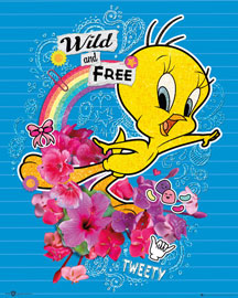 Poster - Looney Tunes Tweety - Wild and Free