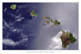 Poster - Islands NASA - Hawaiian Islands