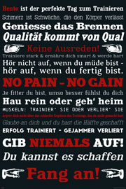 Poster - Motivational GYM Training - Keine Ausreden! Schwarz