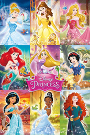 Poster - Disney Princess - Collage
