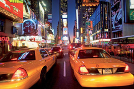 Poster - New York Times Sq. Taxi