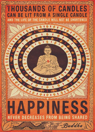 Poster - Buddha Happiness Candles