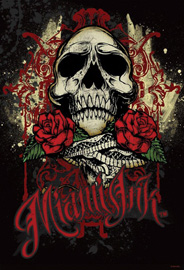 Poster - Miami Ink Rose Skull
