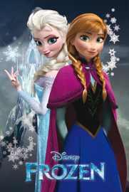 Poster - Frozen Anna and Elsa Sisters